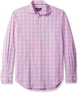 Bugatchi Men's Slim Fit Lightweight Checkered Button Shirt