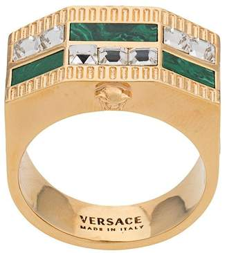 Versace Medusa crystal ring