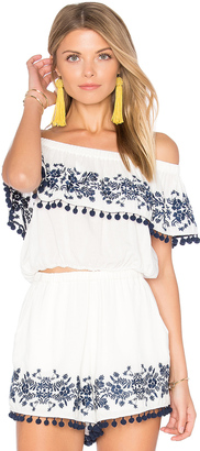 Show Me Your Mumu Teagan Pom Pom Crop Top $106 thestylecure.com