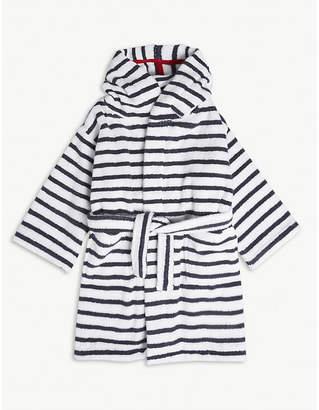 The Little White Company Breton stripe cotton robe 1-6 years