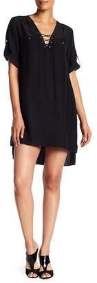 Amanda Uprichard Hanson Lace-Up Silk Dress