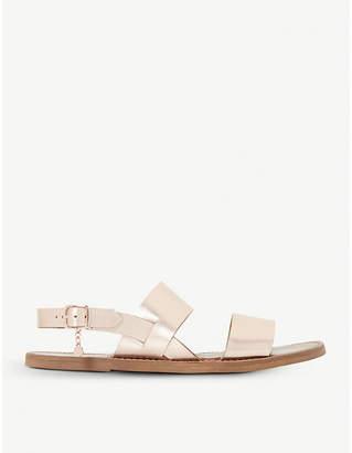 Dune Lowpez metallic leather sandals