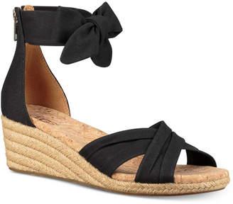 35076309266 Uggs Black Wedge Sandals - ShopStyle