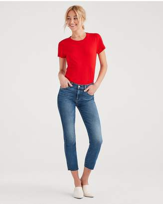 7 For All Mankind Luxe Vintage Edie With Cut Off Hem And Zip Fly In Femme