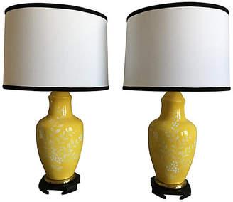 Lamp shades shopstyle one kings lane vintage frederick cooper lamps wshades set of 2 aloadofball Images