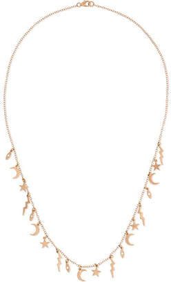 Andrea Fohrman Element 18-karat Rose Gold Diamond Necklace