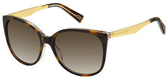 Marc Jacobs 203-S 56mm Tortoise Oversized Sunglasses