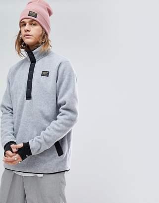 Burton Snowboards Hearth Fleece Overhead Sweatshirt In Grey Marl