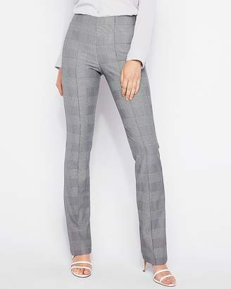 Express Mid Rise Plaid Pull-On Barely Boot Pant