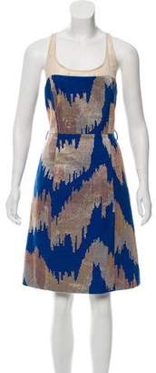 Tracy Reese Linen- Blend Embroidered Dress