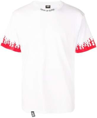 Vision Of Super flame cuff T-shirt
