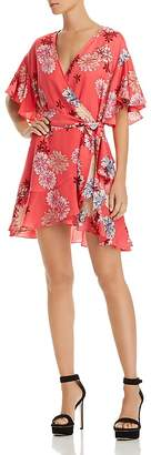 BB Dakota Kirsten Floral Print Wrap Dress