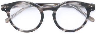 Linda Farrow horn-rimmed round sunglasses
