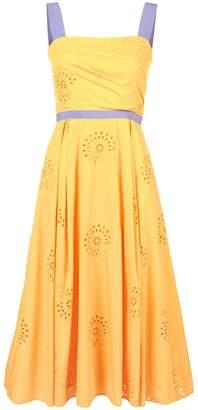 Carolina Herrera floral brocade mid dress