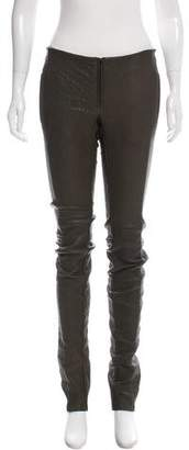 Barbara Bui Leather Moto Pants