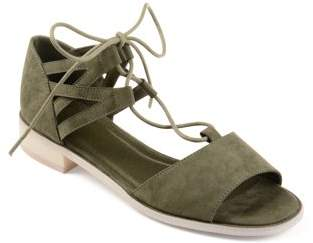 Co Brinley Womens Faux Nubuck Criss-cross Lace-up Sandals