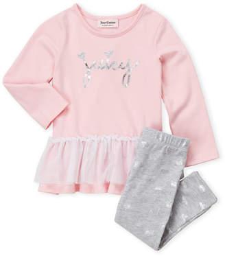 Juicy Couture Toddler Girls) Two-Piece Tutu Tunic & Leggings Set