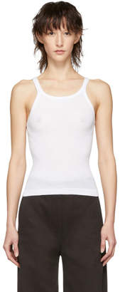RE/DONE White Originals Ribbed Tank Top