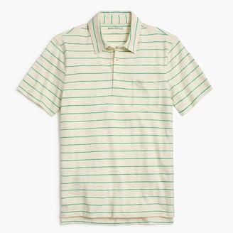 J.Crew Striped short-sleeve polo shirt in slub cotton