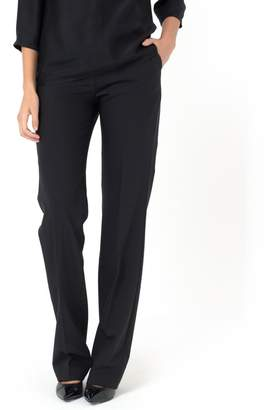 La Redoute Collections Straight Cut Trousers, 43% Wool