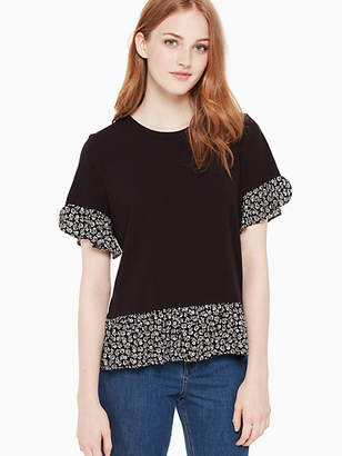 Kate Spade Plains mixed media tee