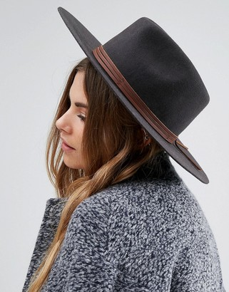 Brixton Drover Fedora with Real Leather Trim $143 thestylecure.com