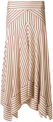 Diane von Furstenberg striped asymmetric hem skirt