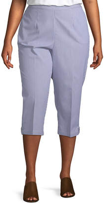 Alfred Dunner Smooth Sailing Button Tab Capri - Plus