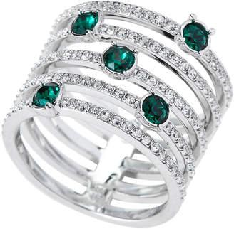 Swarovski Silver-Tone Creativity Wide Ring Size 7
