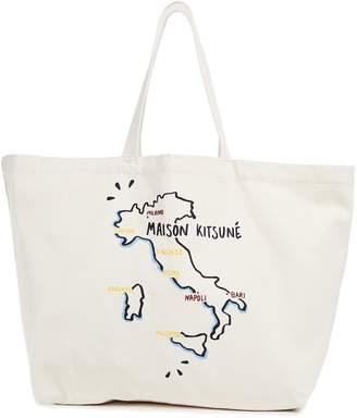 MAISON KITSUNÉ XXL Italia Tote Bag