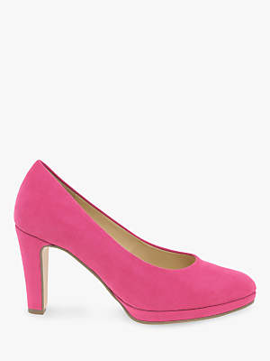 Gabor Splendid Block Heeled Court Shoes, Fuchsia
