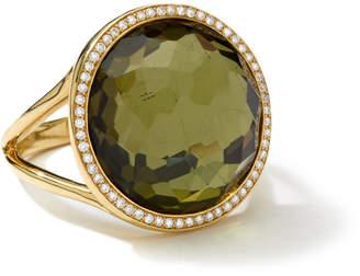 Ippolita 18k Rock Candy Mini Lollipop Ring in Pyrite & Diamond, Size 7