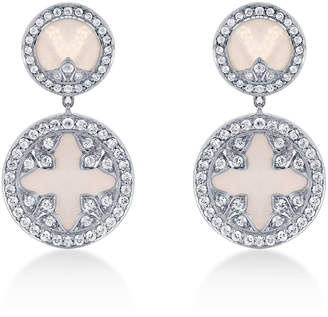 Treasure Empress 18ct White Gold and 0.90cttw Diamond Drop Earrings
