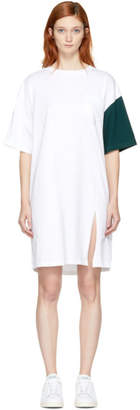 Sjyp White and Green California Club Tee Dress