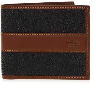 Mulberry Black & Cognac Leather Card Wallet