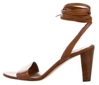 Sergio Rossi Leather Wrap-Around Sandals
