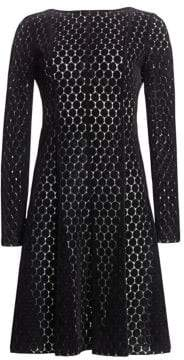 Akris Punto Lace Punto A-Line Dress