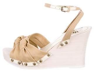 Dolce & Gabbana Canvas Wedge Sandals