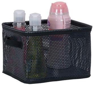 Household Essentials Eva Mesh Small Storage Basket Tote, Black