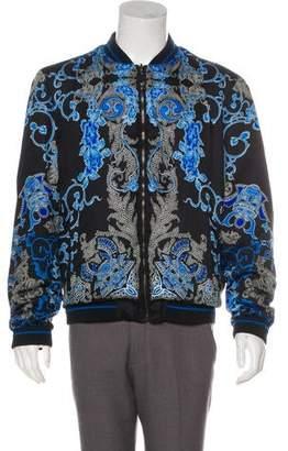 Versace Floral Print Reversible Bomber Jacket