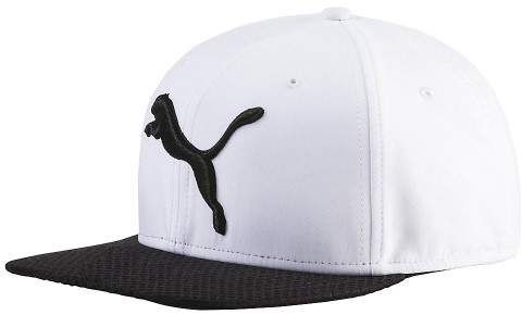 Puma Men'S Golf Micro Disc Cap Bright White-Puma Black Osfa