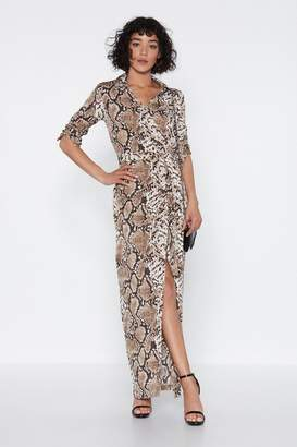 Nasty Gal Hiss is How We Do It Snake Dress