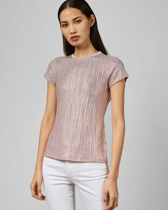 Ted Baker CATRINO Metallic fitted T-shirt