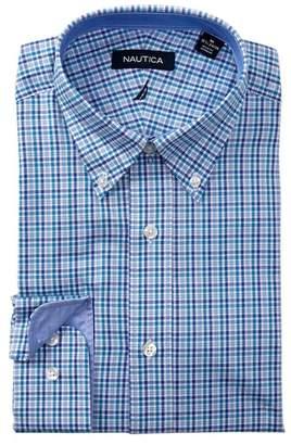 Nautica Sea Tattersall Classic Fit Dress Shirt