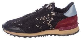 Valentino Lace Rockrunner Sneakers