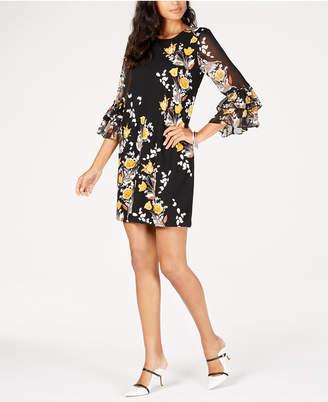 Alfani Petite Tiered-Sleeve Dress