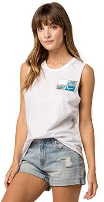 Rusty Women's Apparel Junior's Just Surfing 2 Muscle Tee