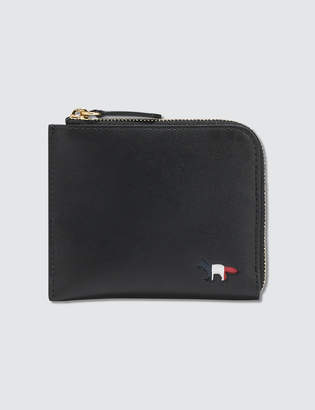 MAISON KITSUNÉ Tricolor Leather Coin Purse