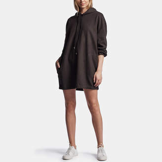 James Perse OVERSIZED SUEDED TERRY HOODIE