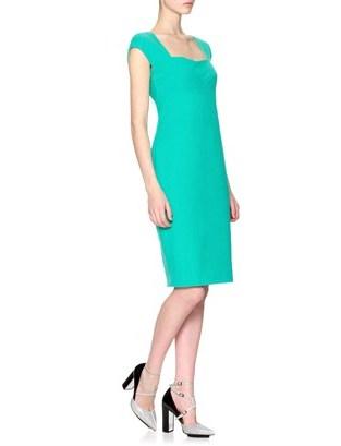 Narciso Rodriguez Marine Cotton Pencil Dress
